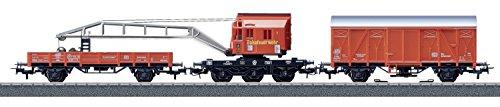 Fire department recovery crane car set Railway service vehicles - Märklin 44752