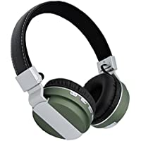 On Ear Wireless Bluetooth Stereo Headphones,Jeselry Foldable Wireless Stereo Headsets, Bluetooth Version 4.2,Powerful Bass Headphones with Detachable Audio Cable 3.5mm,TF ,FM,MIC-Green