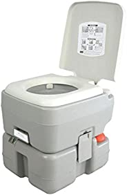 SereneLife Outdoor Portable Toilet with Carry Bag, Travel Toilet with Level indicator     3 Way Pistol Flush  
