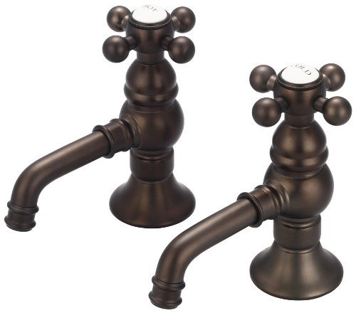 (Water Creation F1-0002-03-CL Vintage Classic Basin Cocks Lavatory Faucet)