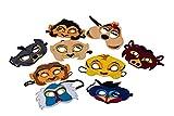 Kids Lion Animal King Mask Handmark Felt Safari