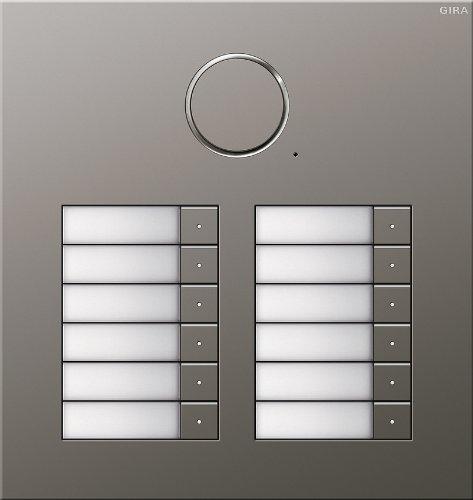 Gira Edelstahl Türsprechanlage für 12 Familienhaus