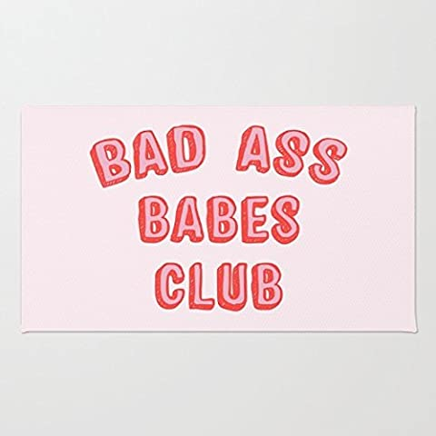 Rikoel Bad Ass Babes Club Doormat, 15x24 Inch (Bad Runner)