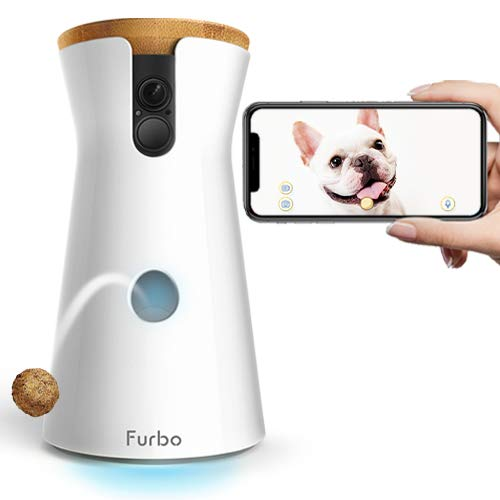 Furbo Dog Camera: Treat Tossing, Full HD Wifi Pet Camera and 2-Way Audio, Designed for Dogs, Compatible with Alexa (As Seen On -