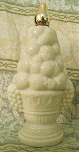 (Milk Glass Compote Decanter Field Flowers Avon Cologne 5oz Unboxed Vintage Fragrance Collectible)
