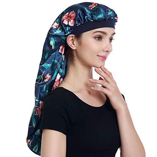 (Satin Bonnet Extra Large for Braids Long Sleeping Cap )
