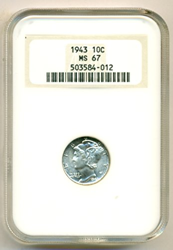1943 Mercury Dime MS67 NGC
