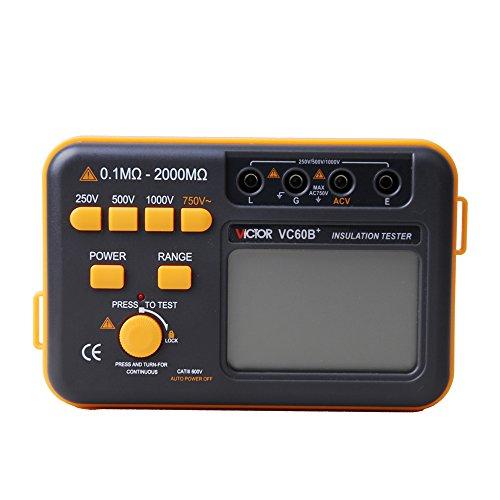 Victor VC60B+ Digital Insulation Tester Megger MegOhm Meter DC250/500/1000V ()