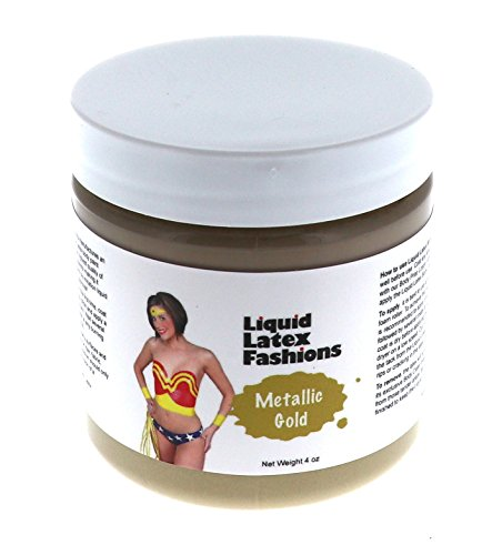 Liquid Latex Fashions (Metallic Gold Liquid Latex Body Paint in 4 Ounces)