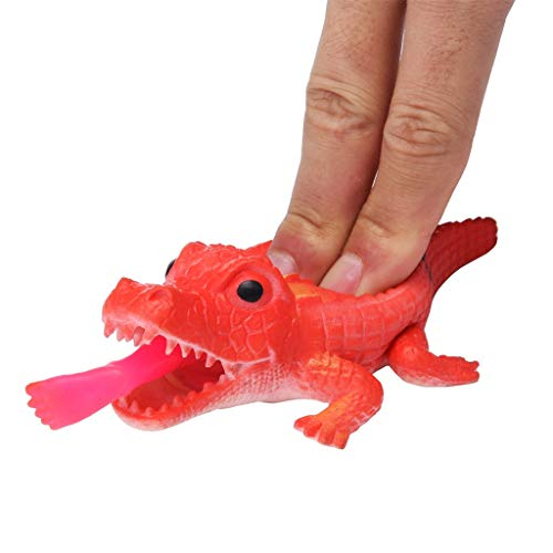Chicflash Squeeze 14cm Crocodile Stress Ball Alternative Humorous Light Hearted Funny -
