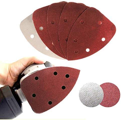 BOOSSONGKANG Sandpaper 50pcs/Set 140x90mm 40/80/120/180/240 Grits Sandpaper Mouse Polisher Grinder Sander Pad Attachment Abrasive Tools