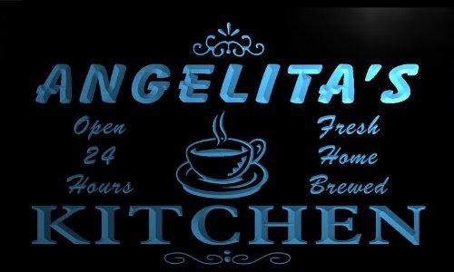 pc920-b Angelita's Family Name Kitchen Decor Neon Sign