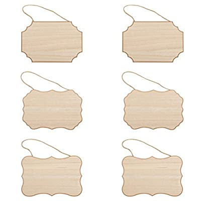 4 X WOODEN PLAQUES CURVED EDGE BLANKS TOP QUALITY MDF JUTE STRING