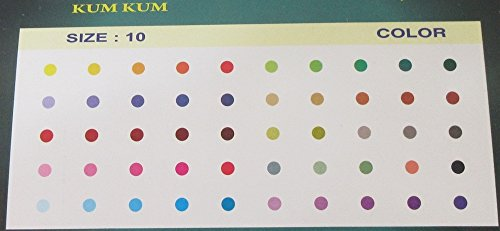 (250 Plain Colored Round Bindis Size 2mm / Multicolor Bindis/ Plain Kumkum Bindis/ Big Round Bindi)