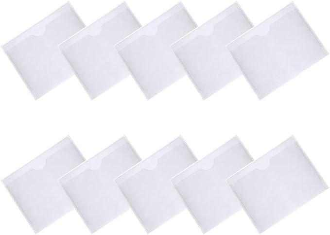 Nuosen 10 Packungen Selbstklebende Parkscheinhalter Plastik Karten Hülle Kartenhalter Für Die Auto Windschutzschutzscheibe Parkschein Anwohnerparkausweis Parkausweis Küche Haushalt