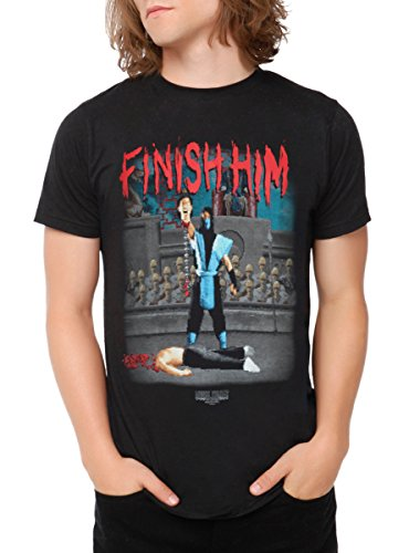 Mortal Kombat Finish Him T-Shirt 2XL (Women Of Mortal Kombat)