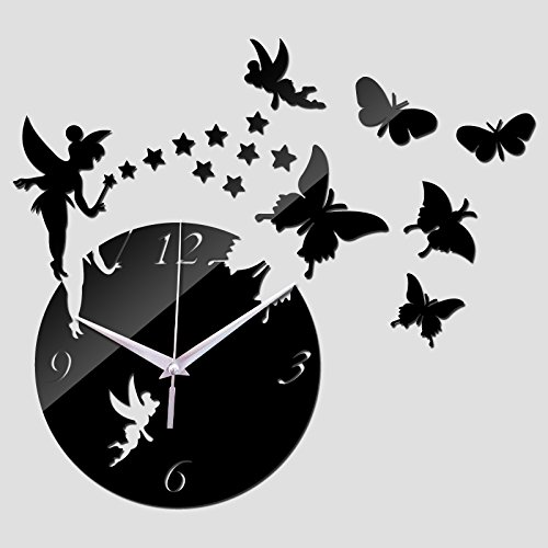 [New Wall Stickers Home Decor Poster Diy Europe Acrylic Large 3d Sticker Still Life Wall Clock Butterfly] (Do It Yourself Costumes 2016)
