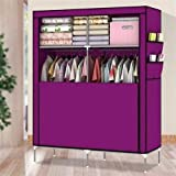 Amanda Home 10140H Portable Clothes Closet Wardrobe Fabric Clothes Storage Organizer (Purple - 69 x 43 x 18in)