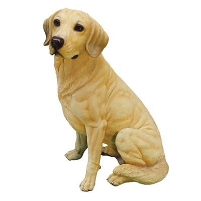 Design Toscano Golden Labrador Retriever Dog Garden Statue, 15 Inch, Yellow