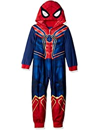 Boys Spiderman Uniform Hooded Blanket Sleeper