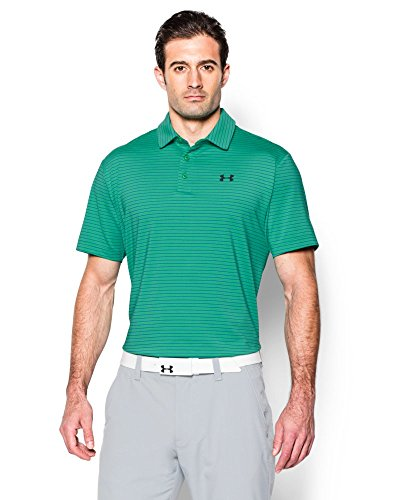 Off Under Armour (Under Armour Men's Playoff Polo, Green Malachite (352),)