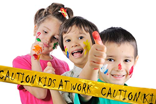 """""""Caution - Kids at Work"""" Novely Tape for Parties and Decorating - Typhon -"""