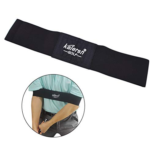 Uspacific Arm Band Training Aid, Golf Swing Training Aid Exercise Posture Motion Correction Belt for Golf Beginner - Fabric Swing Arm