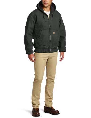 Carhartt Men's Big & Tall Quilted Flannel Lined Sandstone Active Jacket J130,Moss,XX-Large Tall