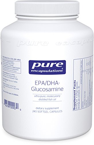 Pure Encapsulations - EPA/DHA-Glucosamine - Ultra-Pure Molecularly Distilled Fish Oil Concentrate Combined with Glucosamine, Boswellia and Curcumin - 240 Softgel Capsules