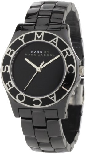 Marc by Marc Jacobs Women's MBM9501 Blade Ceramic Black Dial Watch (Blade Marc Marc By Jacobs)