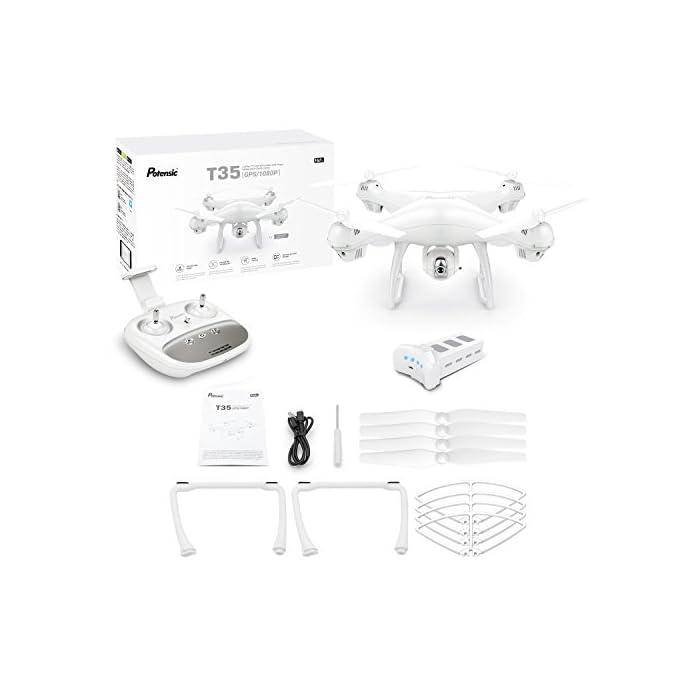 41dNsOMDonL 【Vuelo Asistido por 2 Modos GPS】integrado GPS y GLONASS sistema de posicionamiento, le proporciona detalles de posicionamiento precisos de su Drone con camara HD. Construido en la función Return-to-Home (RTH) para un dron más seguro, el dron regresará automáticamente a su hogar precisamente cuando la batería está baja o la señal es débil cuando vuela fuera del alcance, sin preocuparse por perder el dron. 【Cámara Wi-Fi FPV 1080P 120 ° FOV Optimizada】drone camara angulo ajustable de 90 °, captura videos y fotos de alta calidad. Puede disfrutar de la visualización en tiempo real directamente desde su teléfono(Después de conectar wifi). Ideal para realizar selfie, capturando cada momento desde una perspectiva de pájaro. 【Modo Sígueme】el RC drone lo seguirá automáticamente y lo capturará donde sea que se mueva. Manteniéndolo en el marco en todo momento, más fácil de obtener tomas complejas, proporciona vuelo manos libres y autofoto. drone económico con GPS