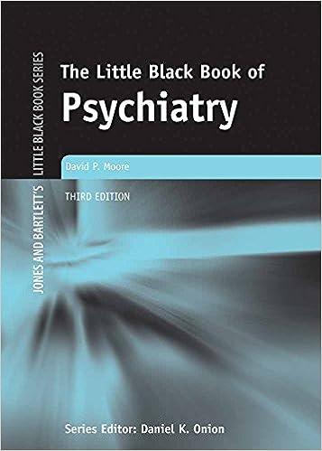 Black book of psychiatry little