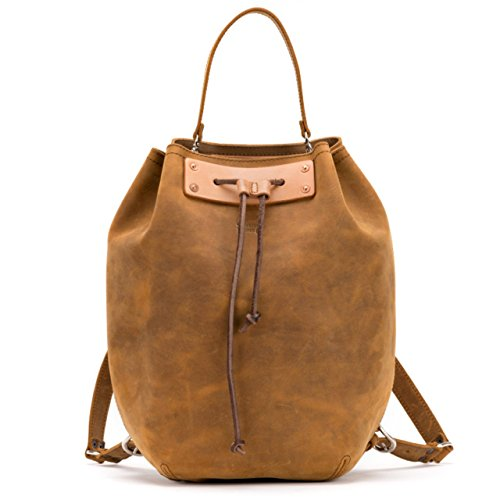 Saddleback Leather Bucket Backpack - Beautiful 100% Full Grain Leather Bag for School, Business or Travel with 100 Year Warranty by Saddleback Leather Co.