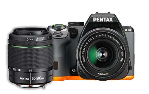(Pentax K-S2 20MP Wi-Fi Enabled Weatherized SLR with 50-200mm Lens Kit (Black/Orange))