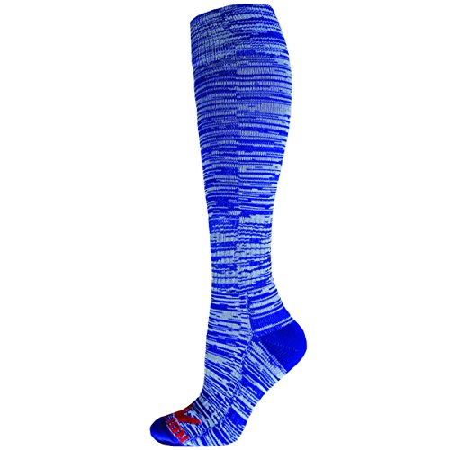 Price comparison product image Red Lion Socks Cosmic 2.0 Space Dye Knee High Socks ( Royal Blue / White - Small )