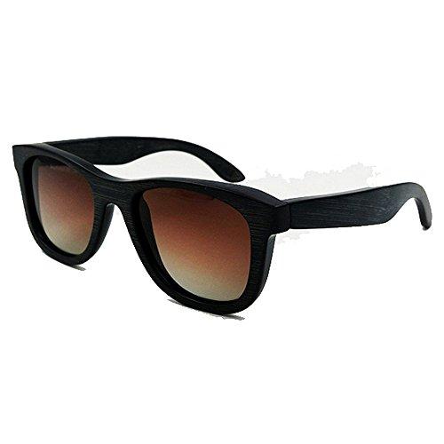 KOMEISHO en écologique pour UV400 Soleil Marron Couleur Hommes lentille Frame Protection Femmes Noir Full Lunettes Couleur Bleu de Vintage Bambou rwYfr