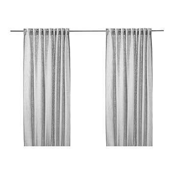 Ikea AINA - Vorhänge, 1 Paar, Grau - 145x300 cm: Amazon.de ...