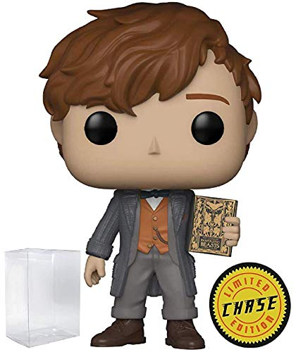 (Funko Fantastic Beasts 2: The Crimes of Grindelwald - Newt Scamander Limited Edition Chase Pop! Vinyl Figure (Includes Compatible Pop Box Protector Case))