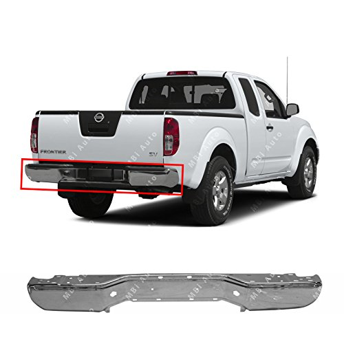 Trucks Bumpers Steel (MBI AUTO - Chrome, Steel Rear Bumper Face Bar Shell for 2005-2018 Nissan Frontier Pickup 05-18, NI1102153)