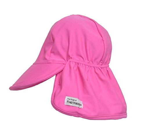 Childrens Swim Flap Hat UPF 50+, Highest Certified UV Sun Protection, Azo-free dye, Floats on Water (Flap Happy Floppy Hat)