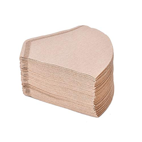 100Pcs/Bag Wooden Original Hand Drip Paper Coffee Filter Espresso Coffee Filters Tea& Coffee tools from Yichener