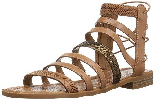 Nine West Women's Xema Synthetic Gladiator Sandal, Dark Natural Multi, 7.5 M (Nine West Gladiator Sandals)