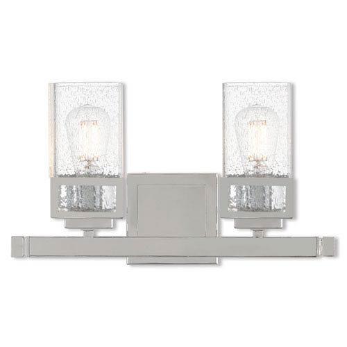 Livex Lighting 10152 – 05 Harding – 2ライトBath Vanity、ポリッシュクローム仕上げwithシードクリアガラス B0722VD1GZ