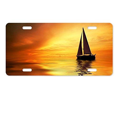 Metal License Plate Cover Sail Boat Aluminum License Plate 12