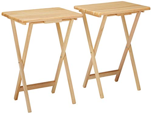 Winsome Wood 42290 Alex 2-pc Set TV Table, Natural