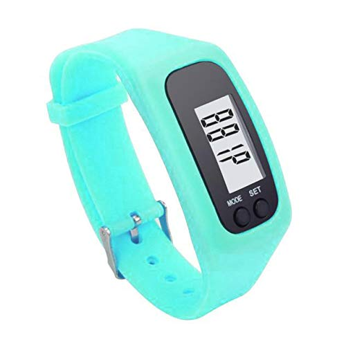 Start Digital LCD Light Portable Waterproof Pedometer Multifunction for Run Step Walking Distance Calorie Counter (Sky Blue)