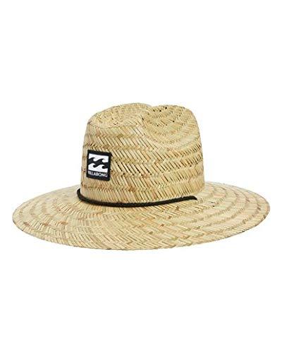 Billabong Boys' Tides Straw Hat Beige One Size (Billabong Hat Cowboy)