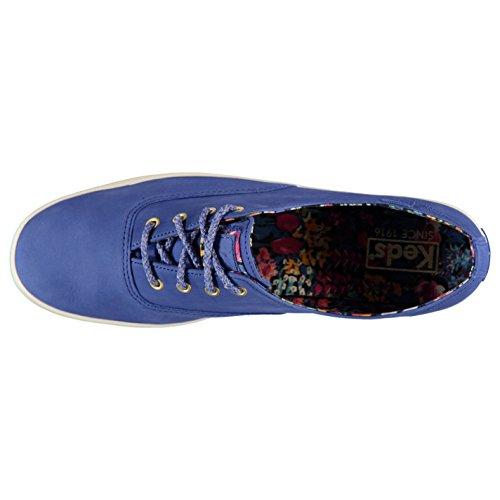 Keds Champ libertad piel zapatos mujer zapatillas azules zapatillas calzado, azul, (UK4) (EU37) (US6.5)