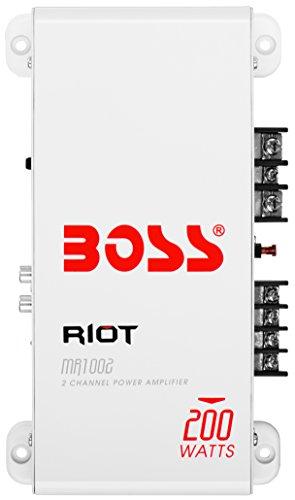 BOSS Audio mr1004Marine Riot a prueba de clima 400vatios gama completa, clase A/B 2–8Ohmios estable amplificador...