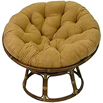 Rattan papasan chair with cushion kitchen for Ez hang chairs instructions